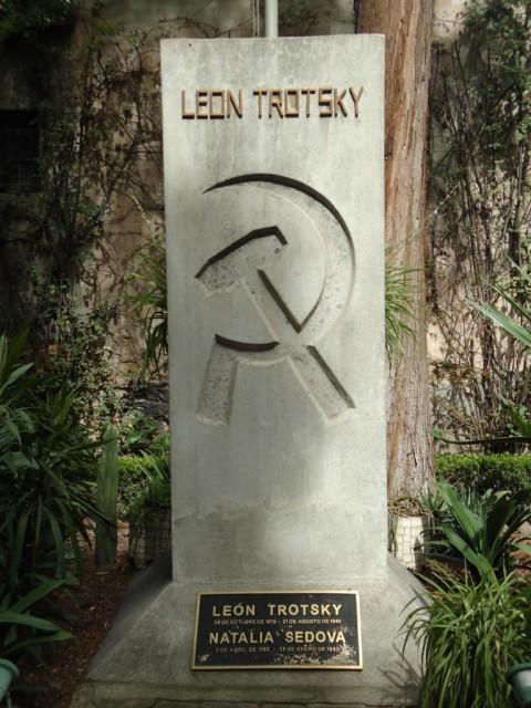 Hammer und Sichel - Trotzkijs Grab