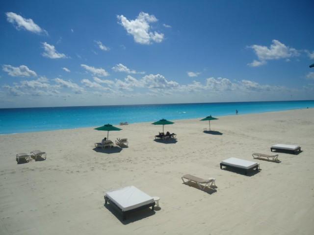 Blick von der Hotelterrasse in Cancún